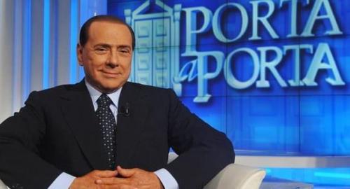 """Berlusconi a Porta a Porta: """" avete bisogno di me, miro al 40% e toglieremo l'IMU"""", """"Fini e Casini persone orride"""" [video]"""